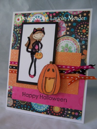 Purrfect Halloween card
