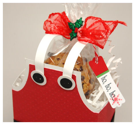 The Bag Of Homemade Cookies Are All Wred Up And Tied Closed With Bakers Twine Tag Was Punched Then Stamped Using Secret Santa Set